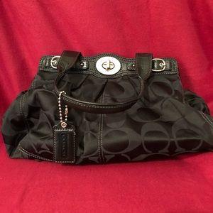 Beautiful black shoulder Coach bag